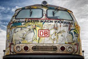 Nostalgisches Bahnbild vom Sonderzug nach Pankow
